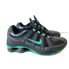 Mens Nike Shox NZ VJ-5 Black /Green 525248-003 Size 9 Athletic Shoe 2012 Lace Up