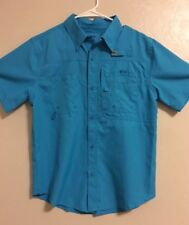 EUC>>Shirt>>Youth>>Reel Legends>>Size L>>Short Sleeve>>Button Down>>Polyester