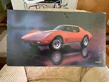 1977 Corvette Showroom Poster!