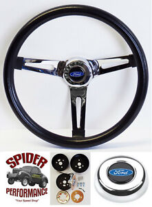 """1961-1964 Ford F-100 steering wheel BLUE OVAL 13 1/2"""" MUSCLE CAR"""