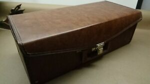Brown Faux Leather 8 Track Storage Case with Tapes Elvis Rush Country