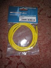 ETRONIX 12SWG SILICONE WIRE YELLOW (100CM) #ET0670Y