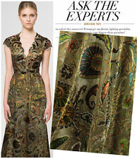 DESIGNER Burn-out 50 Silk Chiffon Fabric With Cashews Print by The Meter S002