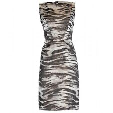 Lanvin Zebra Animal Print Sleeveless Sheath Dress 38   US 4/6  UK 8/10 NWT $3K