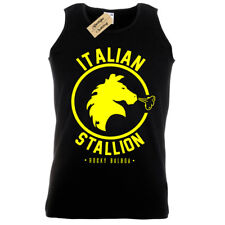 ITALIAN STALLION MENS TANK TOP ROCKY BALBOA BOXING GYM TRAINING VEST FANCY DRESS