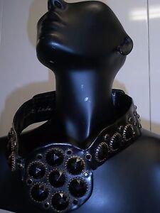 belt Judith Leiber VINTAGE SEXY HOT JEWELED XS COUTURE BELT BLACK PLASTIC GEMS