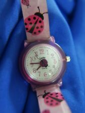 dingbats LADYBUG LUCKY LK8062 silicone PINK BAND watch, new battery, WORKS A15