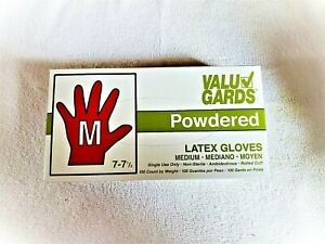 Disposable Latex Gloves 100 Pieces - Powdered