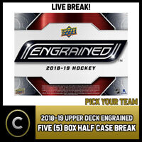2018-19 UPPER DECK ENGRAINED 5 BOX (HALF CASE) BREAK #H329 - PICK YOUR TEAM -