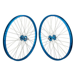 "24""x1.75"" SE Racing Sealed Bearing Wheelset BMX BLUE"