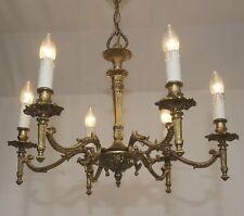 Empire Antik Stil Kronleuchter Messing Decken Lampe Leuchte Vtg 6 fl Lüster Alt
