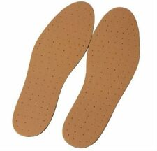 ULTRA COMFORTABLE LEATHER INSOLES CUT TO SIZE UNISEX UK 3/4/5/6/7/8/9/10/11