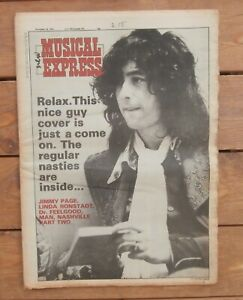 NME 20 NOV 1976 JIMMY PAGE ABBA RAMONES SEX PISTOLS DAMNED THIN LIZZY AC/DC CHER