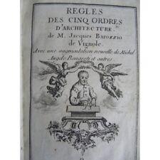 Vignole royale des cinq ordres d'architecture, dédiée aux amateurs art Règles Pl