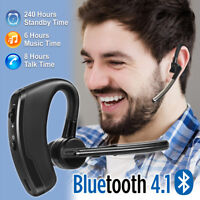 Bluetooth Wireless Trucker Headset Stereo Headphone Noise Cancelling Earpiece