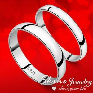 925 Solid GENUINE Sterling Silver Mens Lady Engagement Wedding Band Knuckle Ring