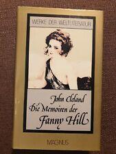 Fanny Hill Cleland, John: die Memoiren der Fanny Hill, Werke der Weltliteratur