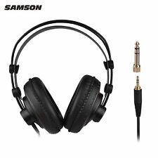 More details for professional studio reference monitor headphones dynamic headset earbuds black