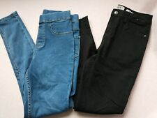 NEW Girls New Look Jeans Age 14 Years, Black distressed jeans & blue jeggings!