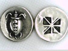 Greek Stater Silver Pl Attica Aegina Land Turtle Tortoise Repro coin Xmas gift