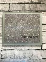 Personalised GLASS Nail Display Mat - Nail Polish Manicure & Pedicure - S Frame