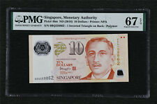 "2018 Singapore ""Commemorative"" 10 Dollars Pick#48m PMG 67 EPQ Superb Gem UNC"