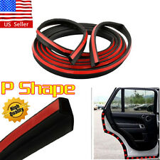 4M 160''P-Shape Rubber Weather Seal Hollow Universal Car Door Strip Weatherstrip