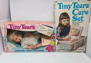 Tiny Tears Boxed Doll & Care Set Vintage Toys 1980's Palitoy