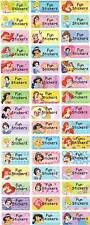 Personalized Waterproof Name labels stickers, 36 Princess ,day care,school,