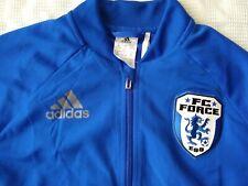 NWT ADIDAS FC Force Euro Soccer School Training Jacket Blue Youth Lrg Climacool