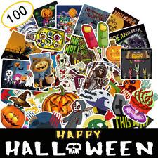 100Pcs Halloween Skateboard Stickers bomb Vinyl Laptop Luggage Decals Sticker
