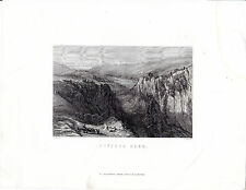 "Antiguo galés Impresiones - ""Dyffryn nedd"" - Radclyffe acero grabado (1872)"