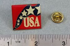Red White Star Blue Streamer USA United States America US Country Lapel Hat Pin