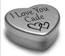 Te Amo Cade Mini Corazón Lata Regalo Para I Heart Cade Con Chocolates