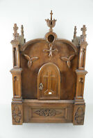 Religious Antique Church tabernacle Wood carved neo gothic rare