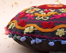 Indian Cushion Cover Boho Pillow Cover Case Sham Ethnic Suzani Hand Embroidered