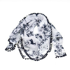 Alprausch Floretta 100% Cotton Navy & White Floral Printed Light Ladies Scarf