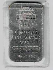 1 Troy Oz 999 Fine - Silver Bar - Engelhard