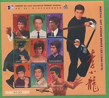 Bruce Lee Martial Arts Legend Souvenir Stamp Sheet - Antigua E32