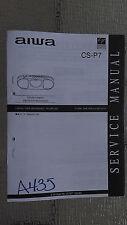 Aiwa cs-p7 service manual original repair book stereo tape player boombox radio