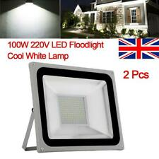 2x100W LED SMD Flood Light Security Lights IP65 Outdoor Yard cool White Lamp