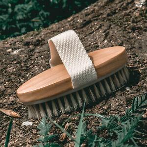 Bamboo Body Brush Sustainable Bamboo and Natural Boar Bristles 100% Bio