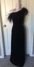 Black Velvet Prom Dress Sz 4 Formal Evening Gown Black Betsy Adam Pageant