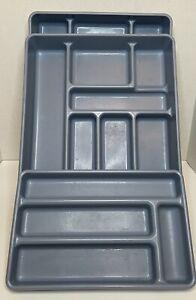 Rubbermaid Silverware Utensil Tray  0521 & 0522 Blue Set of 3