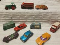 Vintage Superfast Matchbox/Lesney/ Corgi  Toy Cars Lot of 10