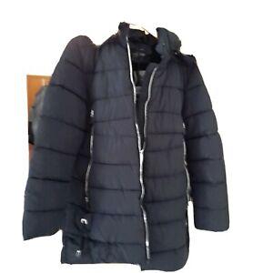 Damen winter mantel parka fell kapuze jacke