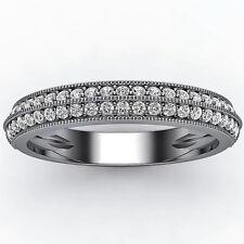 0.60 Ct. Vintage Diamond Ring 14K White Gold Wedding Band Anniversary Ring