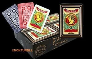 Baraja Naipe Espanola MARCA FAISAN 100% Plastico Spanish Playing Cards