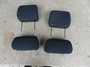 2003 2004 Pontiac Vibe SET OF 3 Front REAR Headrests LH RH charcoal 2005 cloth