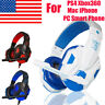 New Stereo 3.5mm Wired Gaming Headset Headphone For PS4 Xbox One Nintendo Switch